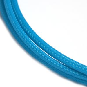 Gaine tressée 4mm Bleu verdâtre